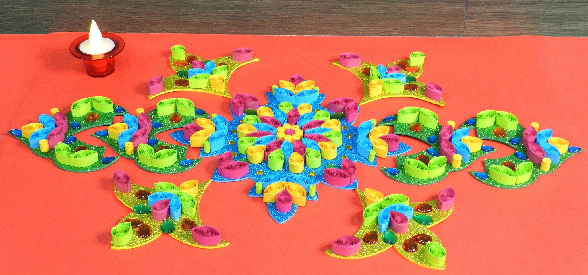 Rangoli Design from paper allgyan