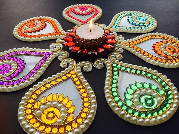 glass rangoli allgyan