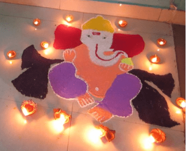 rangoli design from color allgyan